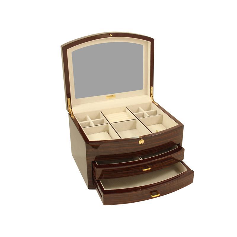 Bey berk ebony zebra large wood jewelry box for Bey berk jewelry box