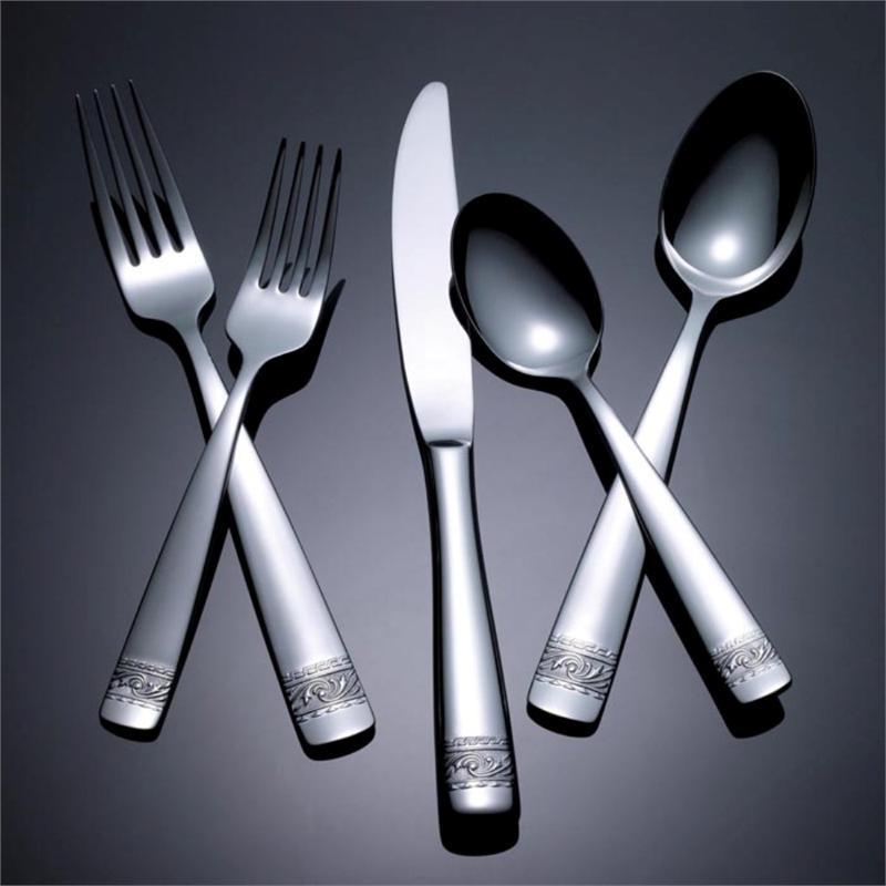 Yamazaki crestwood 60pc flatware set service for 12 - Yamazaki stainless steel flatware ...