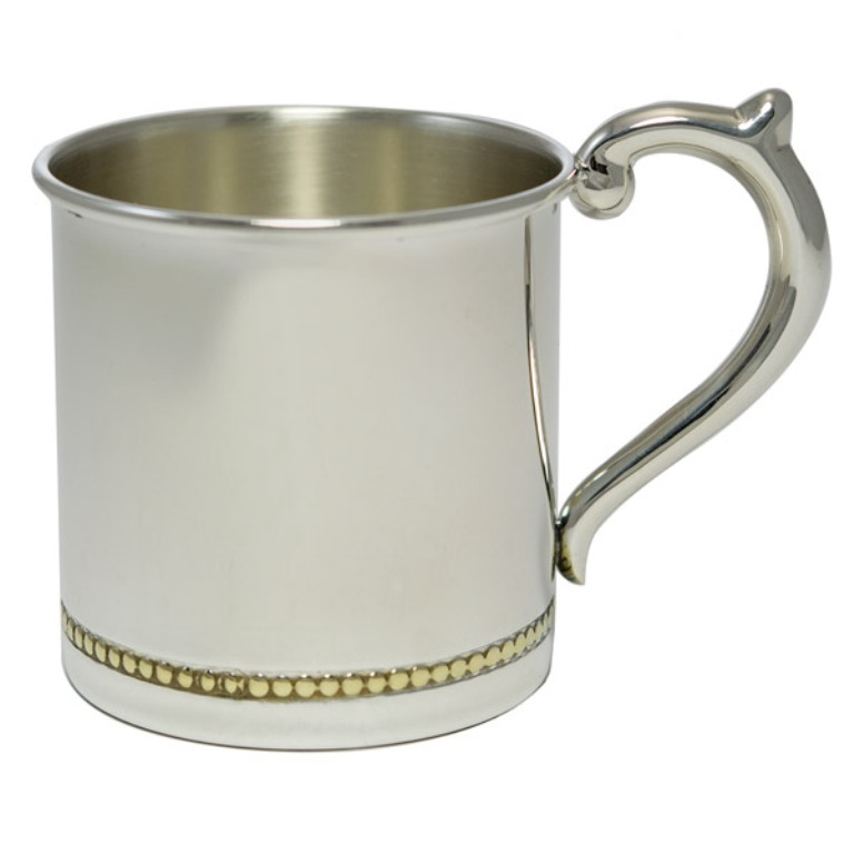 Cunill Gold Beaded Sterling Baby Cup