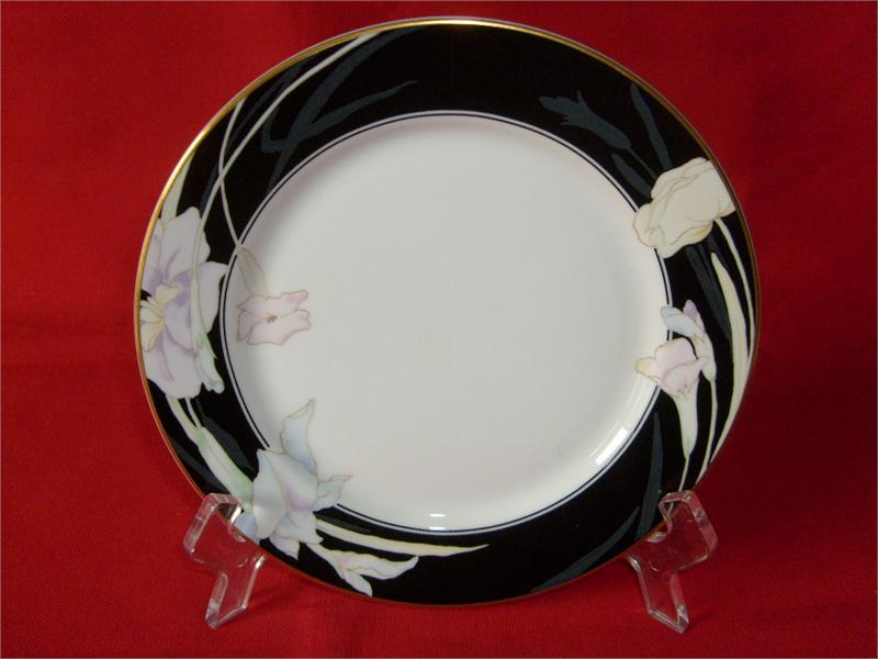 MIKASA CHINA, CHARISMA-BLACK, #L9050, (2) SALAD PLATES