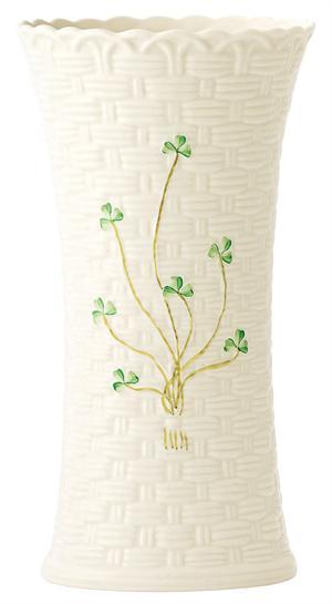 Belleek Shamrock Colleen 10 Inch Vase