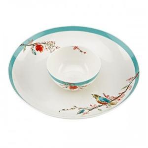 sc 1 st  Tableware Gallery & Lenox Chirp Chip u0026 Dip Set