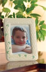 Belleek Shamrock 5 x 7 Frame
