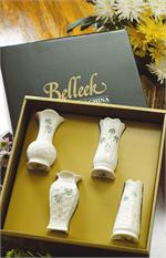 Belleek Shamrock Mini Vases