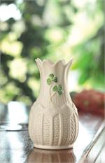 Belleek Shamrock Mini Cashel Vase