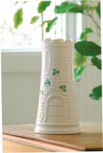 Belleek Shamrock Castle Vase
