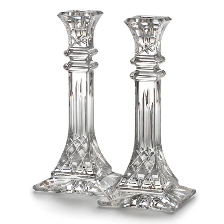 Waterford Crystal Lismore 10 Inch Candlestick Pair