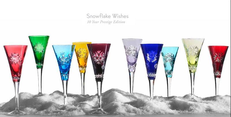 02b5e891a46e Waterford Snowflake Wishes Prestige Flutes, Set of 10