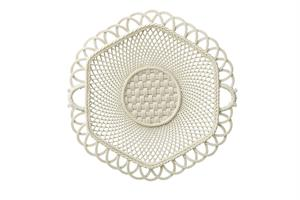 Belleek 160th Anniversary Hexagon Basket Plate