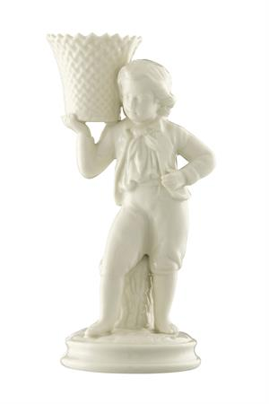 Belleek 160th Anniversary Boy Basket Carrier