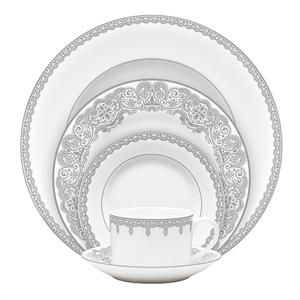 Waterford Lismore Lace Platinum 60Pc China Set