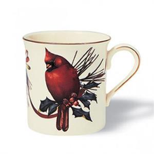 Lenox winter greetings cardinal mug m4hsunfo
