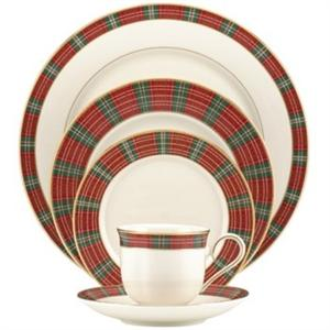 Lenox winter greetings plaid 40pc china set m4hsunfo