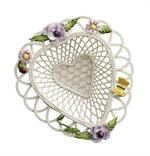 Belleek Violet Poppy Basket